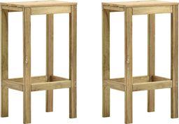 vidaXL Stołki barowe, 2 szt., impregnowane drewno sosnowe