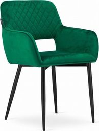 Mufart Zestaw krzeseł 2 szt, do salonu, gabinetu, sypialni, jadalni czy poczekalni VANT - Zielony Aksamit