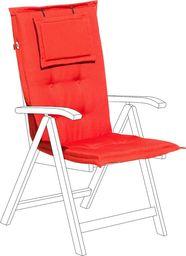 Beliani Poduszka na krzesło ogrodowe czerwona TOSCANA