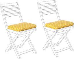 Beliani Zestaw 2 poduszek na krzesła ogrodowe żółty FIJI