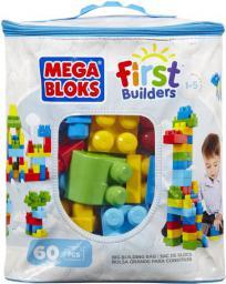 Mega Bloks First Builders - Torba niebieska 60el. (DCH55)