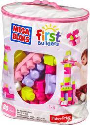 Mega Bloks First Builders - Torba różowa 80el. (DCH62)
