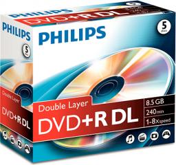 Philips DVD+R 8,5GB 5szt. (DR8S8J05C/00)