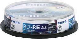 Philips Bluray 25GB 10szt. BD-RE (BE2S2B10F/00)