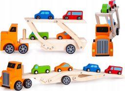 Ecotoys Drewniana ciężarówka tir + 4 auta (990)