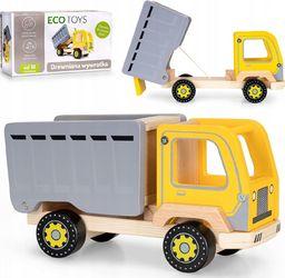 Ecotoys Drewniana wywrotka śmieciarka ciężarówka (1422)