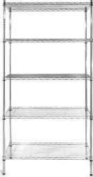 Hendi Regał magazynowy składany regulowane półki z drutu - 5 półkowy - Hendi 812204