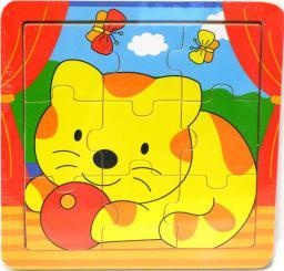 Brimarex BRIMAREX Drewniane Puzzle Małe Zwierzęta - 1562470
