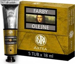 Astra Farba olejna żółty ugier 5x18 ml
