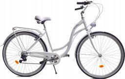 Dallas Bike Rower miejski 26'' 7-biegowy biały SPD