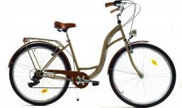 """Dallas Bike Rower miejski 26"""" 7-biegowy cappuccino z brązem SPD"""