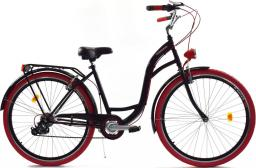 Dallas Bike Rower miejski 26'' 7-biegowy czarny z czerwonym SPD