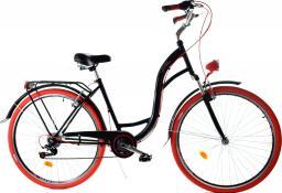 Dallas Bike Rower miejski 28'' 7-biegowy czarny z czerwonym SPD LUX