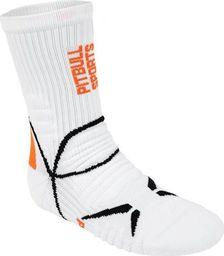 Pit Bull West Coast Skarpetki Pit Bull Sports - Białe/Pomarańczowe 43/46