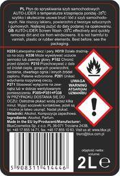BluxCosmetics Zimowy płyn do spryskiwaczy -35C, Autolider 2L Uniwersalny