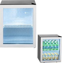 Witryna chłodnicza Royal Catering Lodówka na napoje witryna chłodnicza stal 54 l czarna Lodówka na napoje witryna chłodnicza stal 54 l czarna