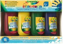 Crayola CRAYOLA Farby do malowania palcami 4 kol - 3239