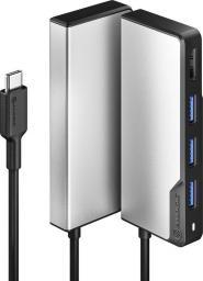 Stacja/replikator Alogic Alogic Adapter Fusion Core USB-C 5-in-1 HDMI & USB grau