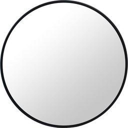 Mufart Okrągłe lustro Czarna Rama