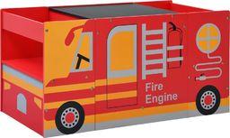vidaXL 3-częściowy zestaw mebli dla dzieci, wóz strażacki, drewno