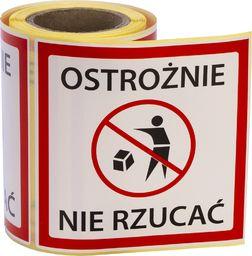 MD Labels Naklejki Etykiety Ostrzegawcze Ostrożnie nie rzucać 100szt