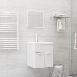 vidaXL 2-cz. zestaw mebli łazienkowych, biały, płyta wiórowa