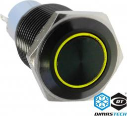 DimasTech Przycisk LED 16mm Żółty (PD030)