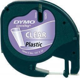 Dymo Letratag Plastic tape transparent 12mm x 4m 16951 (S0721550)