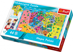 Trefl Puzzle Mapa Polski  (15501)