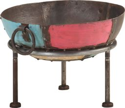 vidaXL Kolorowe palenisko rustykalne, 40 cm, żelazne
