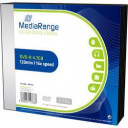 MediaRange DVD-R 4.7GB 5szt. (MR418)