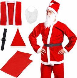 Springos Strój Mikołaja 5 elementów, kostium czerwony UNIWERSALNY