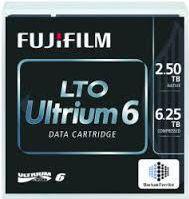 Taśma Fujitsu LTO-6 Ultrium 2.5/6.25TB (D:CR-LTO6-05L-BF)