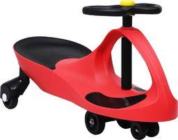 vidaXL Jeździk balansowy dla dzieci z klaksonem czerwony