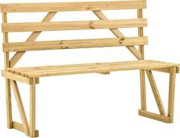 vidaXL Ławka ogrodowa, 120 cm, impregnowane drewno sosnowe