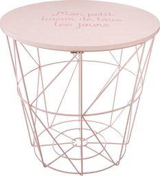 Atmosphera Okrągły stolik kawowy Kumi różowy