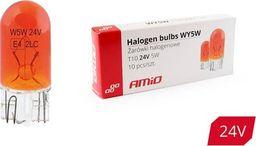 AMiO Żarówki halogenowe WY5W T10 5W W2.1x9.5d AMBER 24V 10szt.