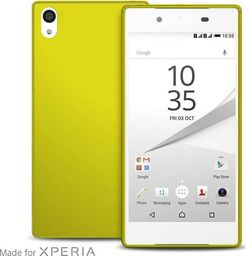 """Puro PURO Ultra Slim """"0.3"""" Cover MFX - Zestaw etui + folia na ekran Sony Xperia Z5 (limonkowy)"""