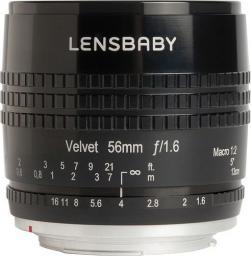 Obiektyw Lensbaby Velvet 56 Canon EF (LB-V56BC)