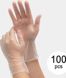 BigBuy Cleaning Jednorazowe rękawiczki winylowe EGV-01 Rozmiar S (100 Sztuki)