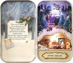 KIK Domek dla lalek w pudełku miniaturka zimowy las