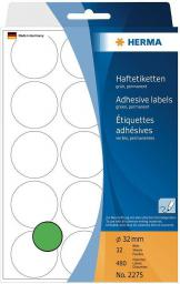 Herma Etykiety zielone kółka, 480 sztuk (2275)