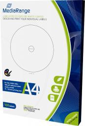 MediaRange Etykiety do CD/DVD/Blu-Ray 15mm-118mm (MRINK130)