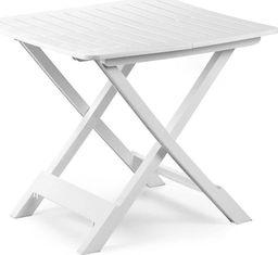 Stolik ogrodowy składany biały 79x72x70cm