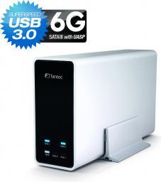 "Kieszeń Fantec mobiRAID X2 USB3.0 2x 2.5"" SATA srebrny 1786"