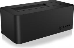 """Stacja dokująca dla dysku twardego Icy Box USB 3.0 na dysk twardy SATA 2,5"""" lub 3,5"""" (IB-112STU3-B)"""