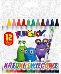 Titanum Kredki świecowe 12 kolorów Fun&Joy Titanum