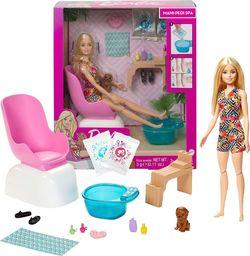 Mattel Lalka Barbie zestaw Spa manicure i pedicure