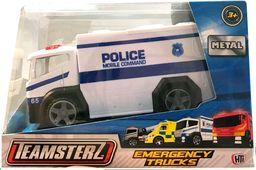 Smily Play Auto ciężarówka metalowa biała policja