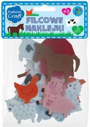 Stnux Naklejki filcowe zwierzęta - (112-0301)